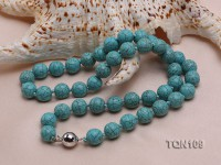 10mm Green Round Turquoise Necklace