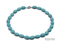 18x13mm Blue Oval Turquoise Necklace