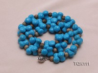 13x8mm Blue Turquoise Necklace