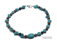 20x10x9mm Blue Irregular Turquoise Necklace