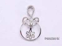 18k White Gold Pendant Bail Dotted with Diamonds