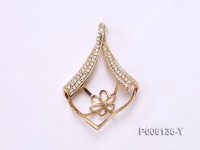 18k Yellow Gold Pendant Bail Dotted with Diamonds