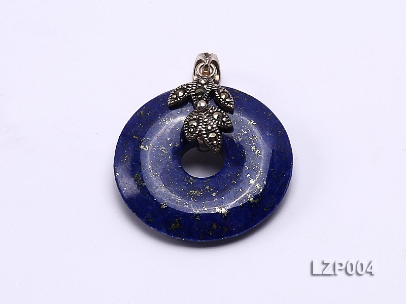 25mm Lapis Lazuli Pendant with Sterling Silver Bail