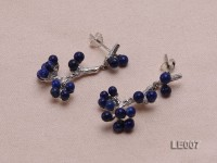 30x15mm Lapis Lazuli Earrings with Sterling Silver Studs