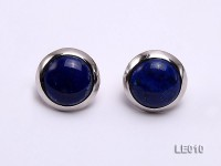 21mm Lapis Lazuli Earrings with Sterling Silver Studs