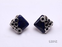 17x17mm Lapis Lazuli Earrings with Sterling Silver Studs