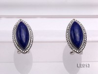 22x13mm Lapis Lazuli Earrings with Sterling Silver Studs