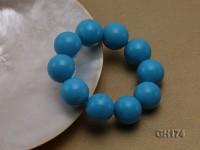 20mm Blue Round Turquoise Bracelet