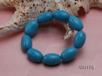 22x15mm Blue Oval Turquoise Bracelet