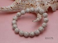 12mm White Round Turquoise Bracelet
