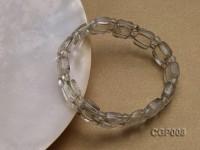 10x12x6mm Green Phantom Crystal Beads Elastic Bracelet