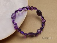 9x5mm Amethyst Beads Elastic Bracelet