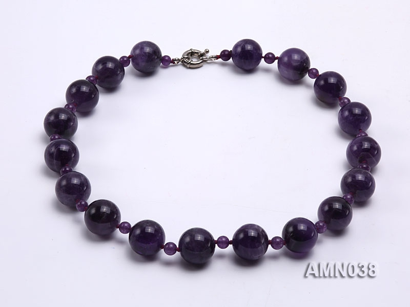 6-18mm Round Amethyst Beads Necklace