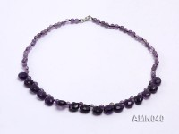 Round and Drop-shaped Amethyst Beads Necklace