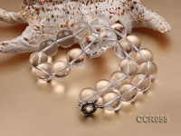 18mm Round Rock Crystal Beads Necklace