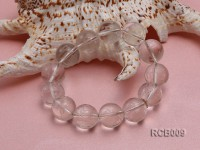 117.5mm Round Rock Crystal Beads Elasticated Bracelet