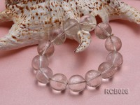 17.5mm Round Rock Crystal Beads Elasticated Bracelet