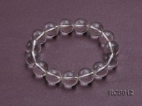 14mm Round Rock Crystal Beads Elasticated Bracelet