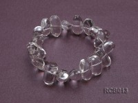 20x11x12mm Irregular Rock Crystal Beads Elasticated Bracelet