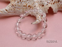 11mm Round Rock Crystal Beads Elasticated Bracelet