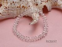 8x4mm Flat Rock Crystal Beads Elasticated Bracelet