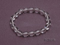 10x8mm Oval Rock Crystal Beads Elasticated Bracelet