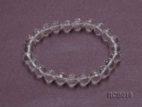 9mm Round Rock Crystal Beads Elasticated Bracelet