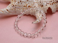 8mm Round Rock Crystal Beads Elasticated Bracelet