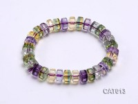 9x6mm Flat Ametrine Beads Elasticated Bracelet