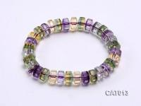 9x6mm Flat Ametrine Beads Elasticated Bracelet