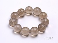 24mm Round Rutilated Quartz Beads Elasticated Bracelet