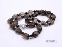 15×11-22x15mm Irregular Faceted Smoky Quartz Beads Necklace