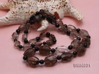 15×11-22x15mm Irregular Faceted Smoky Quartz Beads Necklace