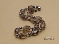 24x17mm Irregular Smoky Quartz Beads Necklace