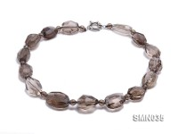 20x17mm Irregular Smoky Quartz Beads Necklace