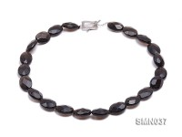18x13x7mm Irregular Faceted Smoky Quartz Beads Necklace