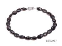 18x13x7mm Irregular Faceted Smoky Quartz Beads Necklace