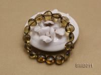 12x12mm Heart-shaped Smoky Quartz Beads Elastic Bracelet