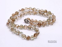 10mm Round Rutilated Quartz Beads Elasticated Necklace