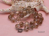 16mm Round Rutilated Quartz Beads Elasticated Necklace