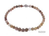 11mm Round Rutilated Quartz Beads Elasticated Necklace