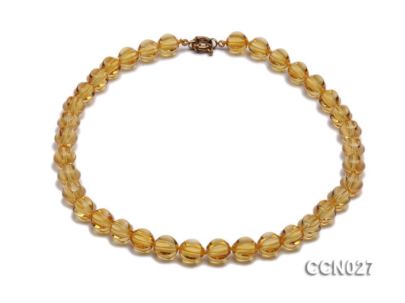 10x11mm Irregular Citrine Beads Necklace