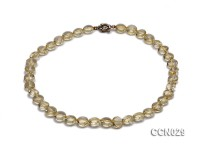11x7mm Button-shaped Citrine Beads Necklace