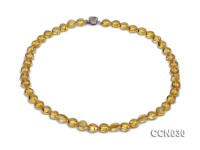 9x5mm Button-shaped Citrine Beads Necklace