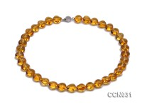 12x10x7mm Heart-shaped Citrine Beads Necklace