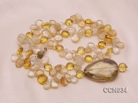 8x12mm Irregular Citrine Beads Necklace