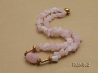 Irregular Rose Quartz Chips Necklace