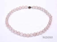 10mm Round Rose Quartz Beads Necklace