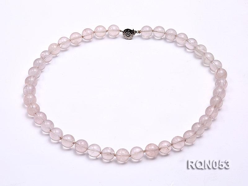 10mm Round Rose Quartz Beads Necklace