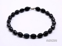 18x13mm Black Lozenge Agate Necklace